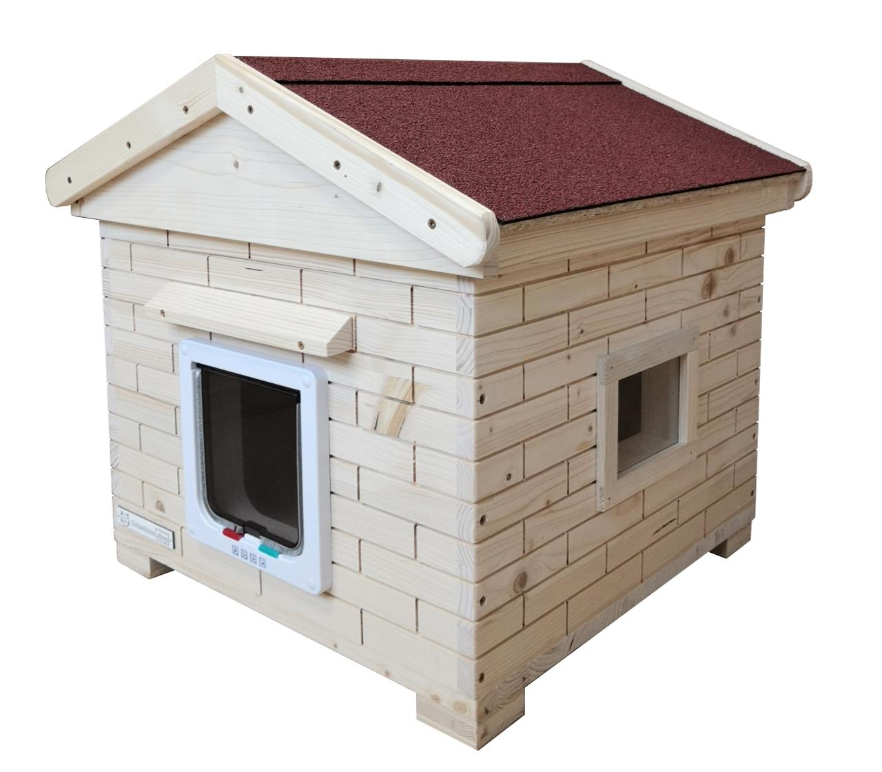 Katzenhütte Trino Vollisoliert mit Satteldach