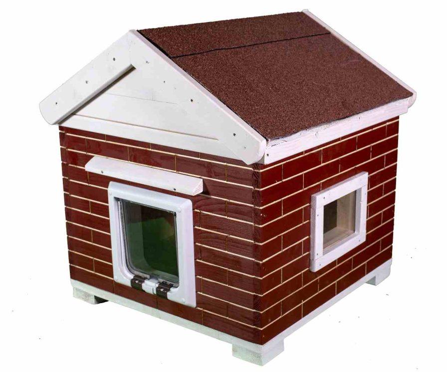 Katzenhaus kaufen, Trino Vollisoliert Rot