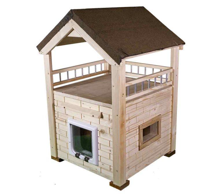 Katzenhaus MOMY, hochwertige Katzenhütte unbehandelt
