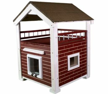 Katzenhaus MOMY, hochwertige Katzenhütte in Rot