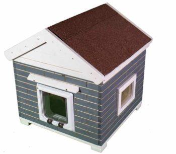 Katzenhaus kaufen Trino Vollisoliert Grau