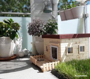 Katzenhaus outdoor, Lilly mit Terrasse