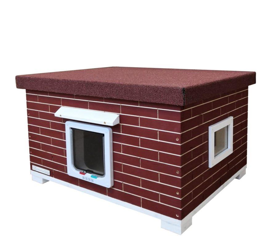 XL Katzenhütte Mao Rot vollisoliert
