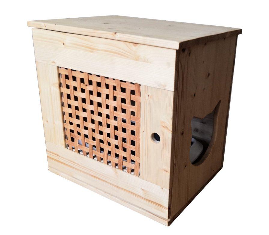 Katzenklo aus Holz Kimmy Wohnung Katzentoilette