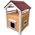 Katzenhaus Isoliert, Wettterfest und hochwertig! Katzenvilla Momy Orange