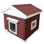 Katzenhaus, Katzenhütte kaufen, Trino Vollisoliert Rot