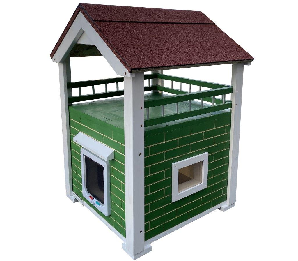 Katzenhaus Momy Vollisoliert mit Terrasse