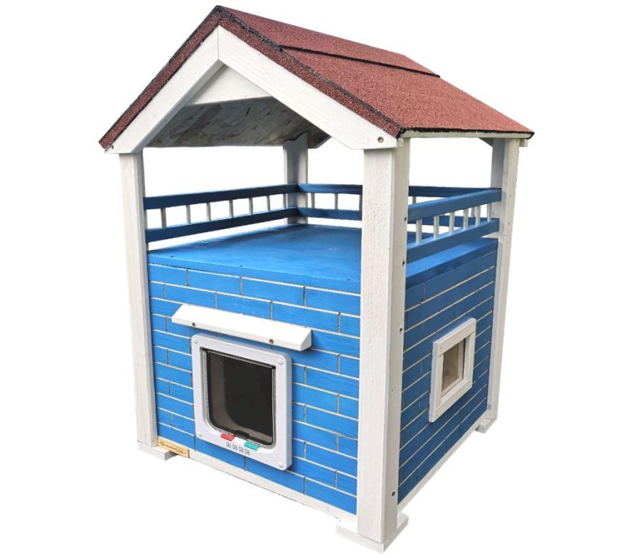 Katzenhaus Vollsioliert Momy Blau