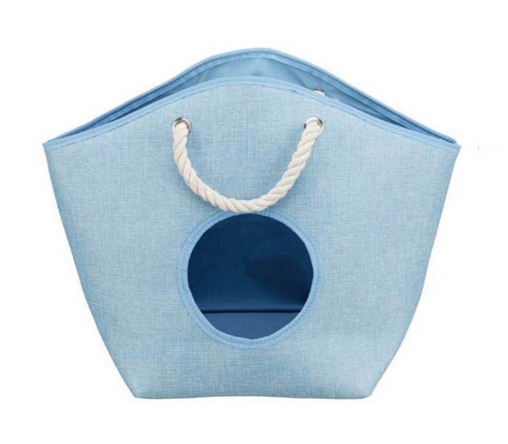 Kuschenhöhle Kuschelkorb Katzenkorb Blau
